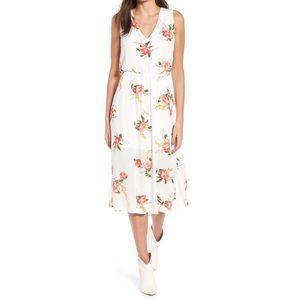 Wayf floral sleeveless blouson midi dress 8316